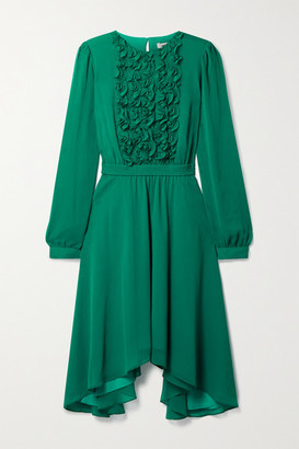 Jason Wu Asymmetric Ruffled Chiffon Dress - Jade