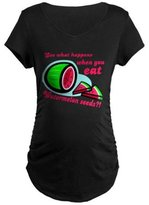 CafePress - Don't Swallow Watermelon Seeds Maternity Dark T-Sh - Cotton Maternity T-shirt, Cute & Funny Pregnancy Tee