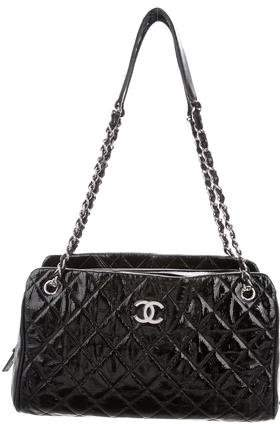 Chanel Patent Quilted Shopping Tote