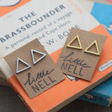 Nell Little Silver Or Gold Triangle Stud Earrings