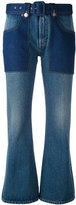MM6 MAISON MARGIELA flared cropped jeans - women - Cotton - 42