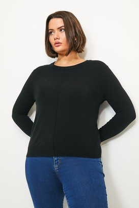 Karen Millen Curve Button Back Knit Jumper