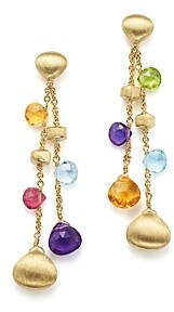 Marco Bicego 18K Yellow Gold Paradise Gemstone Teardrop Double Strand Earrings