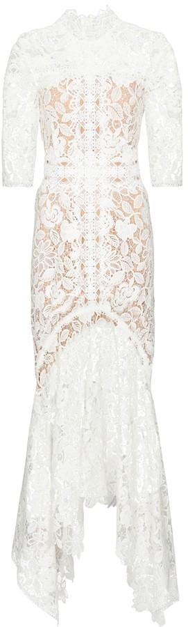 Costarellos Kalissa guipure lace gown