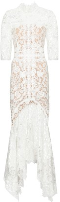 Costarellos Kalissa guipure lace gown