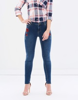 Dorothy Perkins Rose Embroidered Darcy Jeans