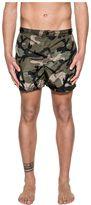 Valentino Army Green Camouflage Swim Short