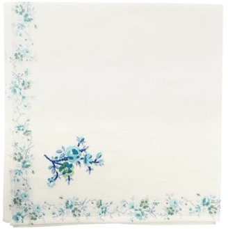D'Ascoli Set Of Four Garden Floral-print Napkins - Blue Multi