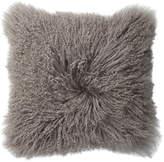 Lene Bjerre Mongolian Lamb Cushion Monument Grey