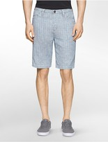 Calvin Klein Double Cloth Micro Stripe Shorts