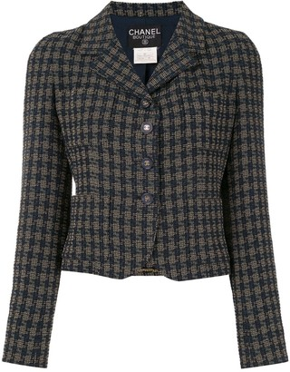 Chanel Pre Owned 1995s Long Sleeve Tweed Jacket