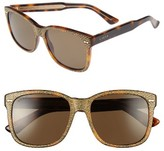 Gucci Women's 56Mm Sunglasses - Havana/ Brown