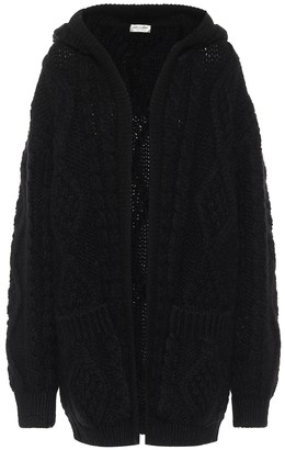 Saint Laurent Wool and mohair cardigan