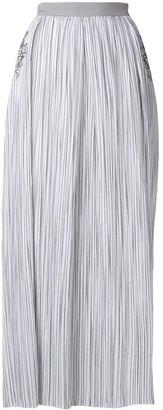 Lorena Antoniazzi Striped Maxi Skirt With Sequin Star Details