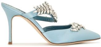 Manolo Blahnik Crystal-Embellished Pointed-Toe Pumps