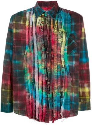 Needles Tie-Dye Plaid Shirt