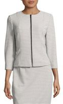 Nipon Boutique Textured Zip Front Blazer