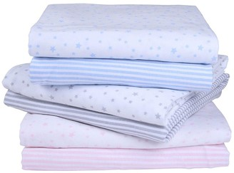 Clair De Lune Printed Cot Bed Sheets - Stars/Stripes
