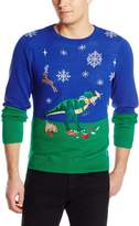 Alex Stevens Men's Dinosaur Reindeer Buffet Sweater