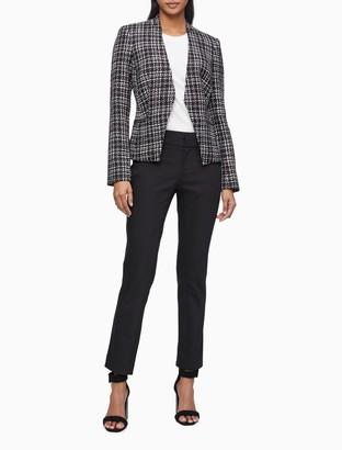 Calvin Klein Boucle Textured Open Jacket