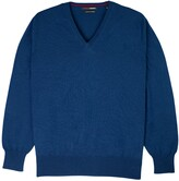 Thumbnail for your product : Romeo Merino - Merino Wool V-Neck Sweater Blue Majolica