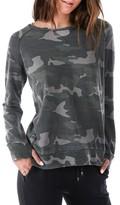 Rag Doll Women's Ragdoll Distressed Camo Sweatshirt