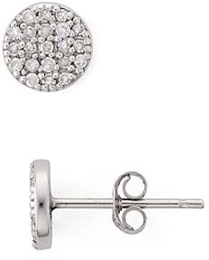 Bloomingdale's Marc & Marcella Diamond Circle Stud Earrings in Sterling Silver - 100% Exclusive