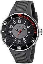 Philip Stein Teslar Men's 34-BGR-RGR Extreme Grey Rubber Strap Watch