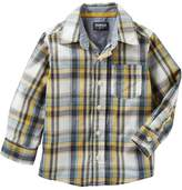 Osh Kosh Boys 4-12 Plaid Button Down Shirt
