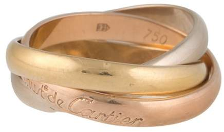 Cartier Trinity 18K Yellow, Rose & White Gold Ring Size 7.25