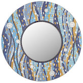 "Pier 1 Imports Blue Mosaic Waves 32"" Round Mirror"