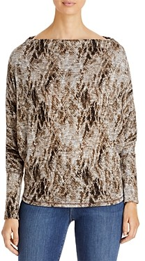 Elan International Printed Convertible Neckline Top