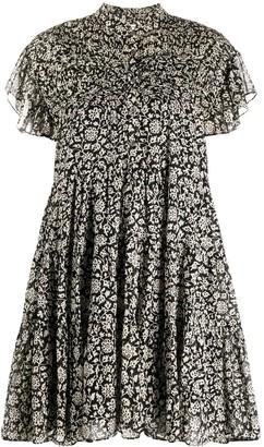 Etoile Isabel Marant Floral Mini Shirt Dress