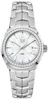 Tag Heuer Link 0.676 TCW Diamonds, Mother-of-Pearl and Stainless Steel Bracelet Watch