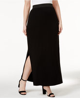 INC International Concepts Plus Size Side-Slit Maxi Skirt, Only at Macy's
