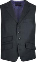 Ted Baker Sterling Birdseye Wool Waistcoat Grey