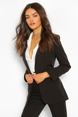 boohoo Tailored O Ring Detail Blazer