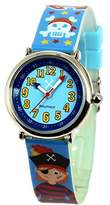 Baby Watch Watch Mate Baby Set-Watch-Watch Boy's Educational 4-7 Years-Blue Dial Bracelet with Beads Plastic Multicoloured