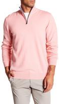 Michael's Swimwear Solid Cashmere Zip Sweater