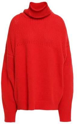 Jil Sander Paneled Wool And Angora-blend Sweater