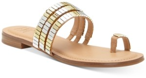 INC International Concepts Inc Jaylee Embellished Toe-Ring Flat Sandals, Created for Macy's Women's Shoes