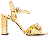 Dolce & Gabbana mirrored embellished sandals
