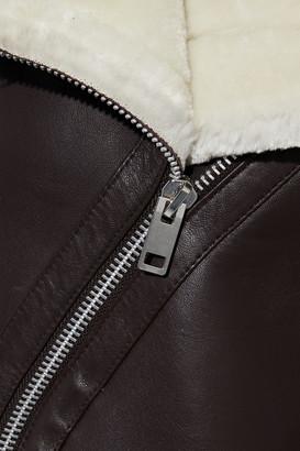Walter Baker Whitney Faux Fur-trimmed Leather Biker Jacket