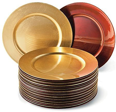JCPenney 12-pc Red, Gold or Silver Charger Dinnerware Set Red