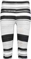 Norma Kamali Cropped striped stretch-jersey leggings