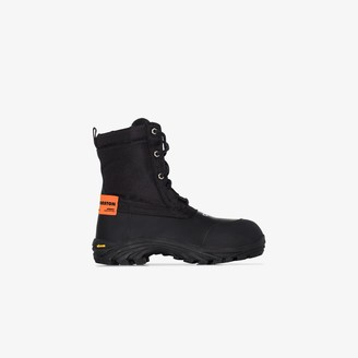 Heron Preston Black Security Lace-Up Boots