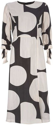 Mint Velvet Alicia Print Cupro Midi Dress