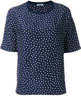 P.A.R.O.S.H. Sispot pois print T-shirt - women - Silk/Cotton - L