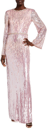 Jenny Packham Cassidy Sequin Gown