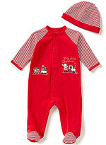 Little Me Baby Boys Newborn-9 Months My First Christmas Footed Coverall